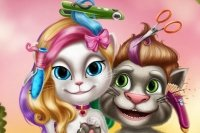 Talking Tom en Angela Kapper